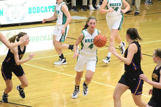 Green sophomore Kasey Kimbler scored a game-high 24 points in her Lady Bobcats 54-38 road win over East in Sciotoville on Monday.