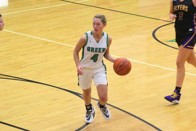 Green sophomore Kasey Kimbler (4) leads all Scioto County girls basketball players with a 20.0 ppg average through the Lady Bobcats first six games in their 4-2 start to the season.