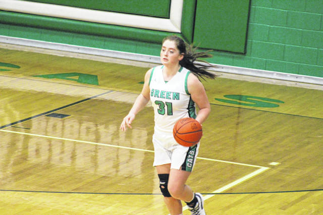 Green junior Kame Sweeney scored 11 of her season-high 17 points during the second half of the Lady Bobcats' 55-38 win over Ironton St. Joe.