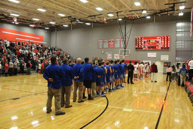 New Boston's Homer Pelligrinon Gymnasium hosted the home opener for the Tigers versus rival East on Friday in a Southern Ohio Conference Division I league game.