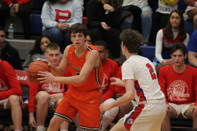 West junior Luke Howard (3) scored a season-high 24 points in the Senators' road loss to Portsmouth on Saturday.