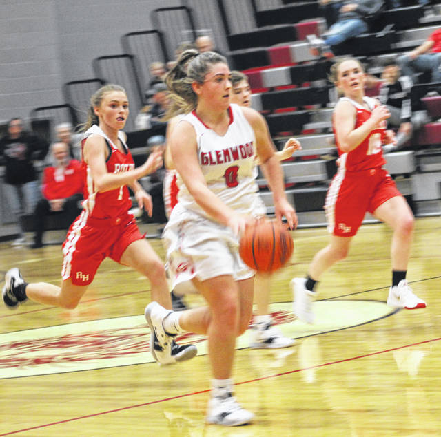 New Boston senior Lexus Oiler paced the Lady Tigers with 16 points in their Southern Ohio Conference Division I victory at Symmes Valley on Monday night.