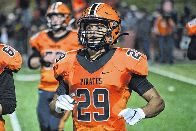 Wheelersburg senior Makya Matthews (29) made Division V all-Ohio football first team for the second consecutive season, as he was selected as a running back for the 2019 campaign.