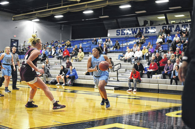 Shawnee State University senior Sydney King finished with 10 points and eight rebounds in the Bears home win over Life University on Saturday.