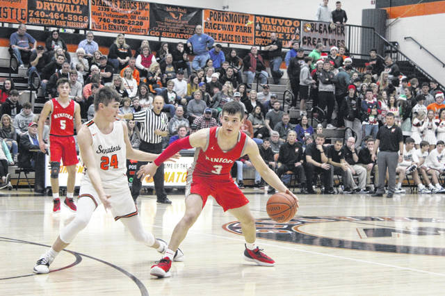 Minford junior Elijah Vogelsong-Lewis scored 11 points in the Falcons' road win over West on Friday in Southern Ohio Conference Division II play.