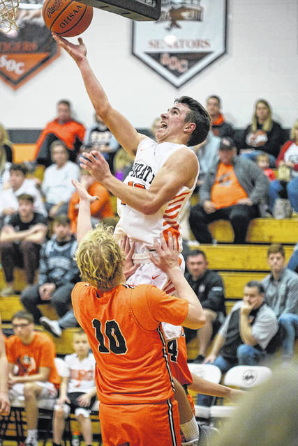 Wheelersburg sophomore Eli Swords scored 14 points in the Pirates' home opener win over West on Friday.