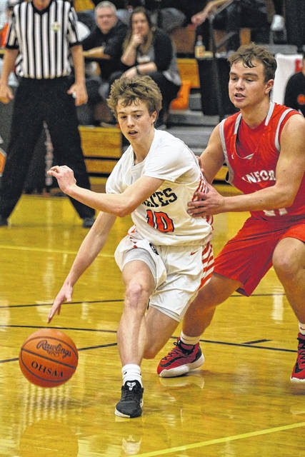 Wheelersburg guard Aaron Jolly drives during a game during the Pirates' 7-0 start to the '19-20 season.