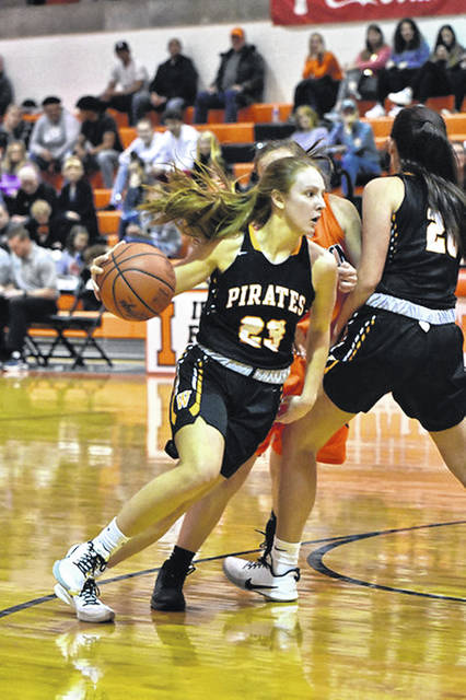 The Wheelersburg Lady Pirates were ranked No. 7 in the newest Division III girls basketball AP poll released Tuesday afternoon.<em></em> <em>File Photo</em>
