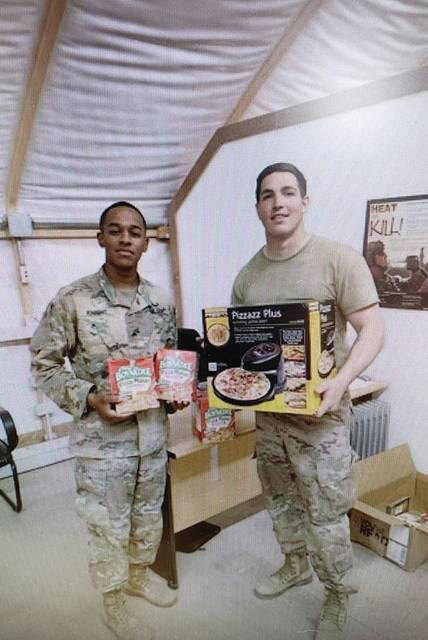 Members of the Military receive care packages.