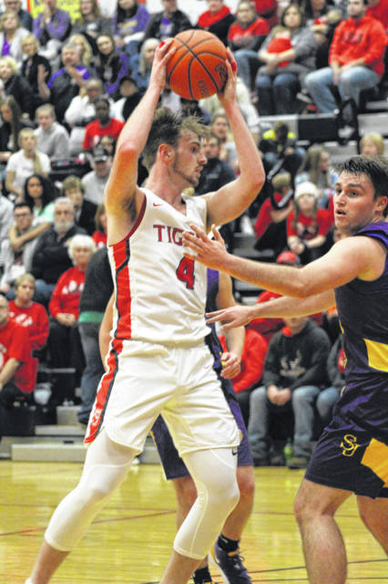 New Boston junior forward Kyle Sexton scored a game-high 26 points in the Tigers' 50-38 home win over Ironton St. Joe on Friday.