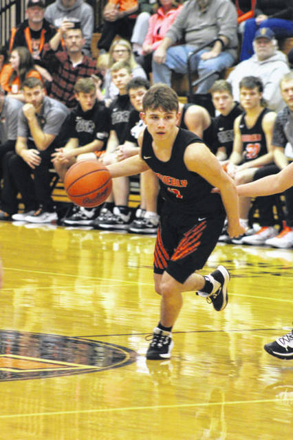 Waverly sophomore guard Trey Robertson scored a game-high 36 points in the Tigers' 67-58 road win over Wheelersburg on Tuesday.