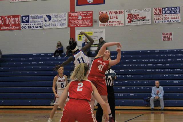 The Portsmouth Lady Trojans hosted and defeated the Rock Hill Redwomen inside Trojan Arena in Ohio Valley Conference play on Thursday.