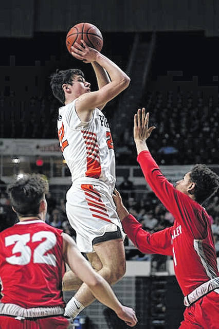 Wheelersburg junior J.J. Truitt (22) is averaging 15.7 points per game through the Pirates' 7-0 start to the '19-20 season.