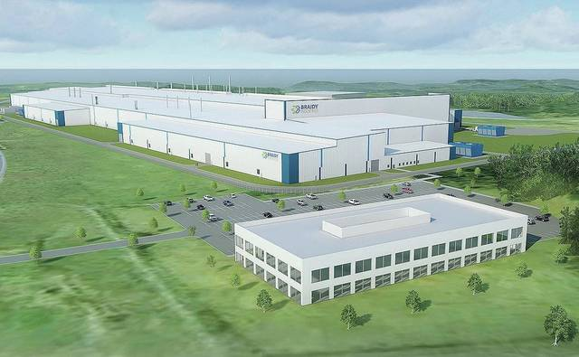 A rendering of the Braidy Industries plant once it is completed. The expected completion is now 2022.