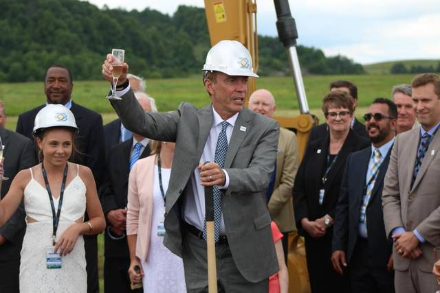 Craig T. Bouchard at the Groundbreaking ceremony of Braidy Industries.