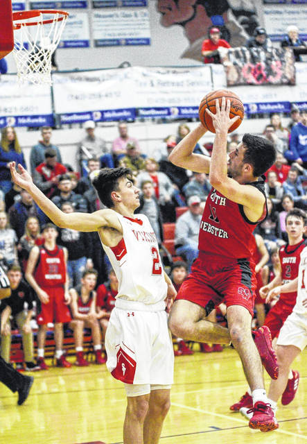 South Webster senior Devyn Coriell (11) scored a season-high 19 points in the Jeeps' 56-54 win over Symmes Valley in a Division IV sectional championship played at Northwest High School.