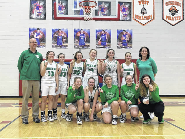 The 2019-20 Green Lady Bobcats are Division IV sectional champions following their 56-45 win over South Gallia, Saturday, at Northwest High School.
