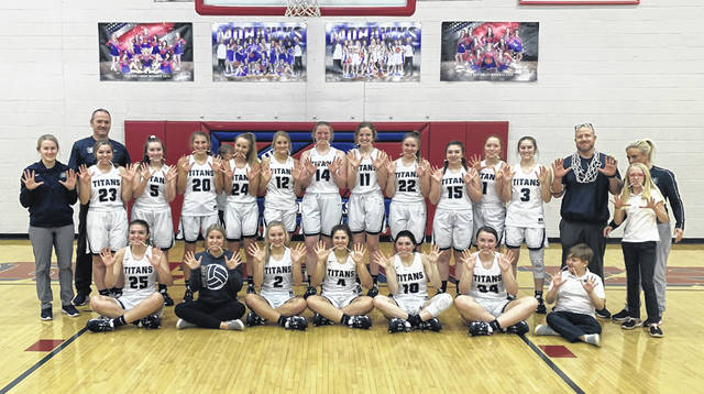 The Notre Dame girls basketball team claimed their 10th-straight girls basketball Division IV sectional title in their 63-24 win over Clay, Thursday, at Northwest High School.
