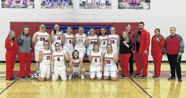 The 2019-20 New Boston Lady Tigers girls basketball team are sectional champions following their 33-32 win over Ironton St. Joe, Saturday, at Northwest High School.