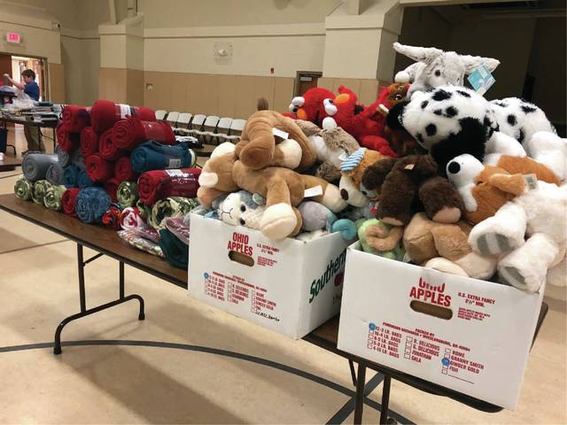 Churches, businesses, and individuals came to the call of the Bear Hug with donations.