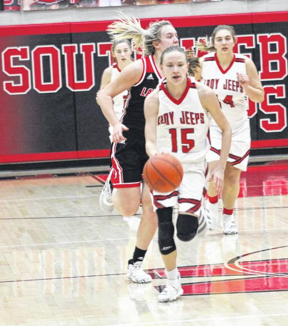 South Webster's Bri Claxon (15) claimed Division IV third-team all-Ohio honors from the Ohio Prep Sports Writers Association.