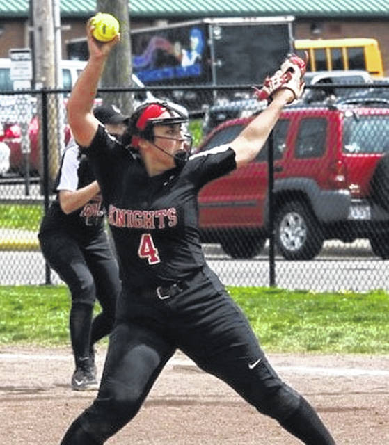 Kentucky Christian University sophomore and former West Senator Taylor Coleman delivers a pitch during a Knights' softball game earlier this season.
