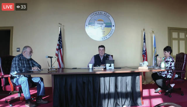 Scioto County Commissioners live on Facebook for their meeting during the COVID-19 Pandemic