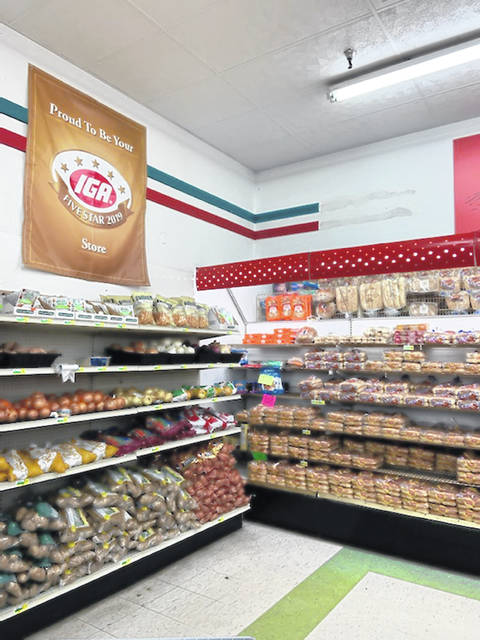 It's great to see both the potato and bread shelves loaded for their customers at Minford IGA