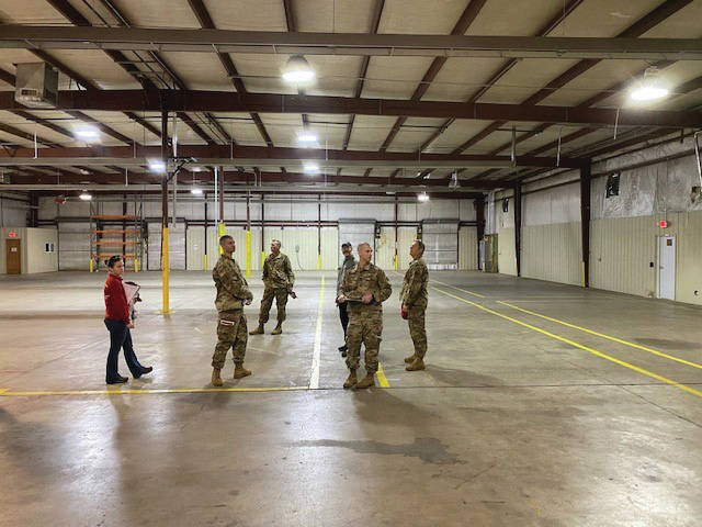 SCCTC Superintendent Kyle Copley shows Assessment Team facility