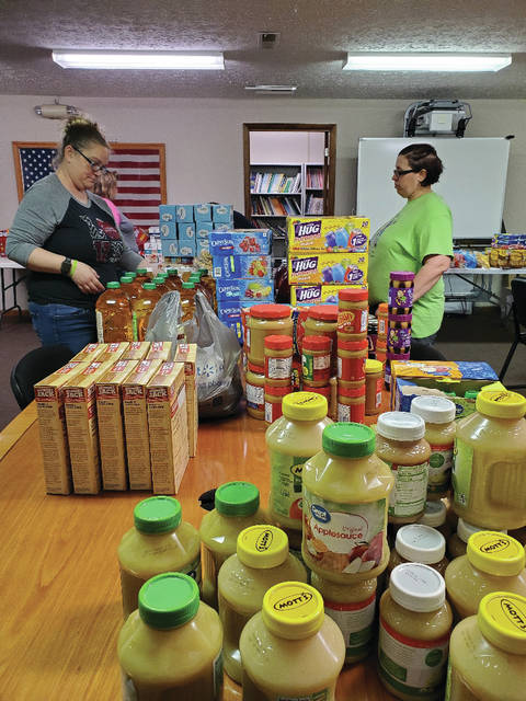 Pike County Community Action employees organize groceries before being delivered to families across the county