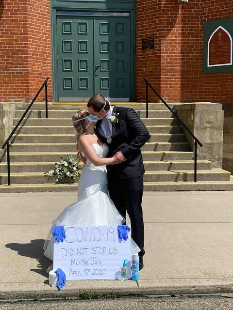 Jeff July and Kala Hall were married on April 18, 2020 in the midst of the COVID-19 pandemic.