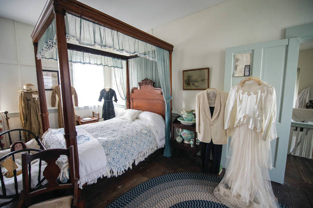 The Master bedroom at the 1810 House in Portsmouth, Ohio.