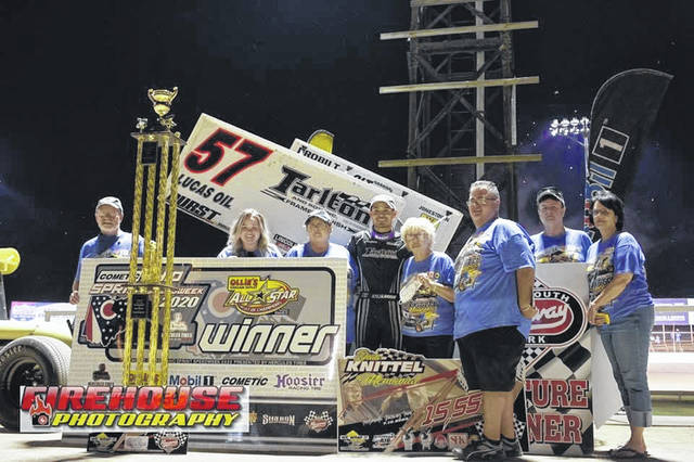 Kyle Larson captured the championship of the third annual Dean Knittel Memorial on Friday night at Portsmouth Raceway Park.