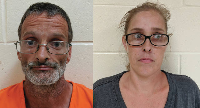 Richard Greene age 46 of 220 Ohio Avenue in New Boston and his wife Sonya Greene age 38 were arrested.