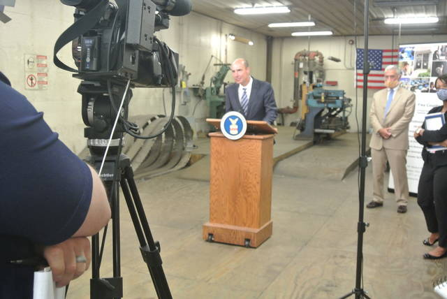 Secretary Eugene Scalia was joined by Ohio Department of Job and Family Services Director Kimberly Hall, and U.S. Rep. Brad Wenstrup (OH-02) for the announcement in Piketon, Ohio, on Wednesday.