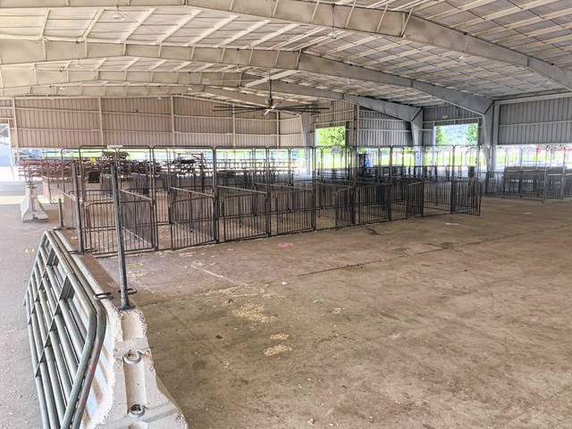 A look inside the main agriculture building at the 2020 Scioto County Junior Fair