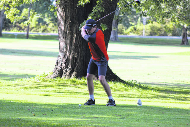 West senior Eli Adkins shot an 81 in the Portsmouth Invitational at the Elks Country Club on Thursday.