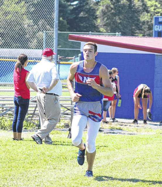 Northwest senior Josh Shope finished third in the high school boys race at the 2020 Northwest Mohawk cross country invitational with a time of 16:45.