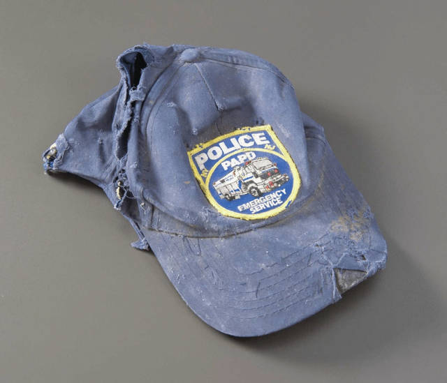 A baseball cap belonging to a veteran of the Port Authority Police Department Police Department