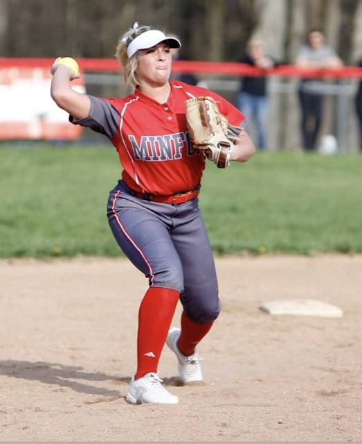 Hannah played softball for Minford High School and will be playing at Fairmont State now.