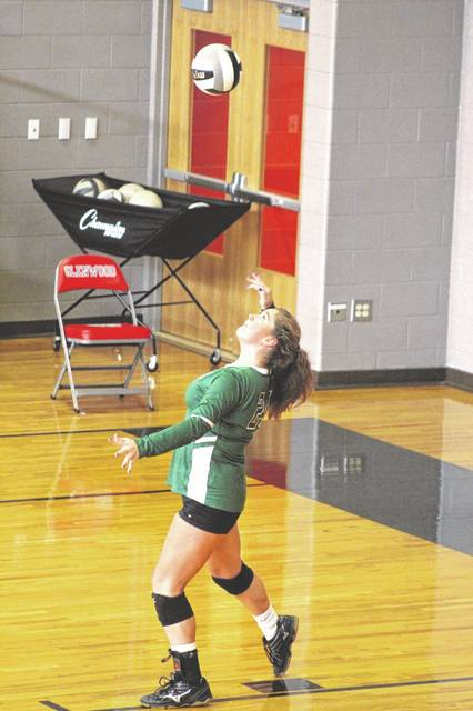 Green senior Kame Sweeney had a team-high 15 kills and three blocks in the Lady Bobcats' five-set road win over New Boston on Thursday.
