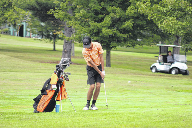 Wheelersburg senior Trevin Mault was named the Southern Ohio Conference Division I Player of the Year after shooting a 77 in Thursday's SOC golf championships held at The Elks CC in McDermott.