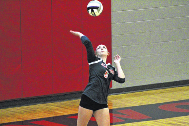 New Boston senior Shelby Easter had a team-high 12 kills in the Lady Tigers' home contest versus Western inside Homer Pellegrinon Gymnasium.