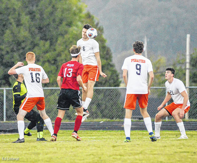Wheelersburg senior Logan Davis scored in the 22nd minute of the second half of the Pirates' 3-0 road win over South Webster in Southern Ohio Conference Division II play.