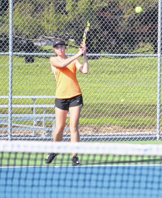 Wheelersburg senior Maddie Gill won all 11 of her singles competition matches during this regular season as the Lady Pirates went a perfect 12-0.