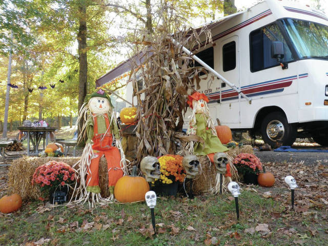 An example of a campsite decoration in a past year for the Halloween events at Shawnee State Park