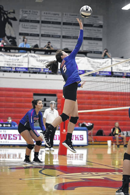 Northwest's Haidyn Wamsley had 14 kills and five blocks in the Lady Mohawks' road win over Clay on Monday.