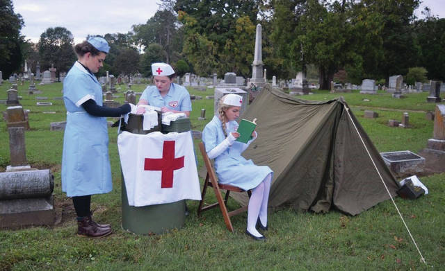 The Story of Us the nurses that were so important in the war, just another great scene of what this event is all about.