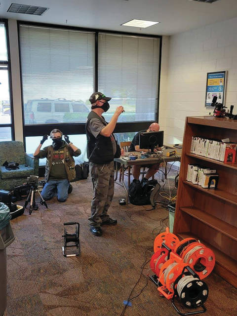 Members of the GCPS setting up equipment at a recent investigation at the Boyd County Public Library.