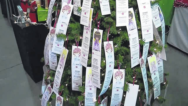 What the Angel Trees will look like filled with Tags